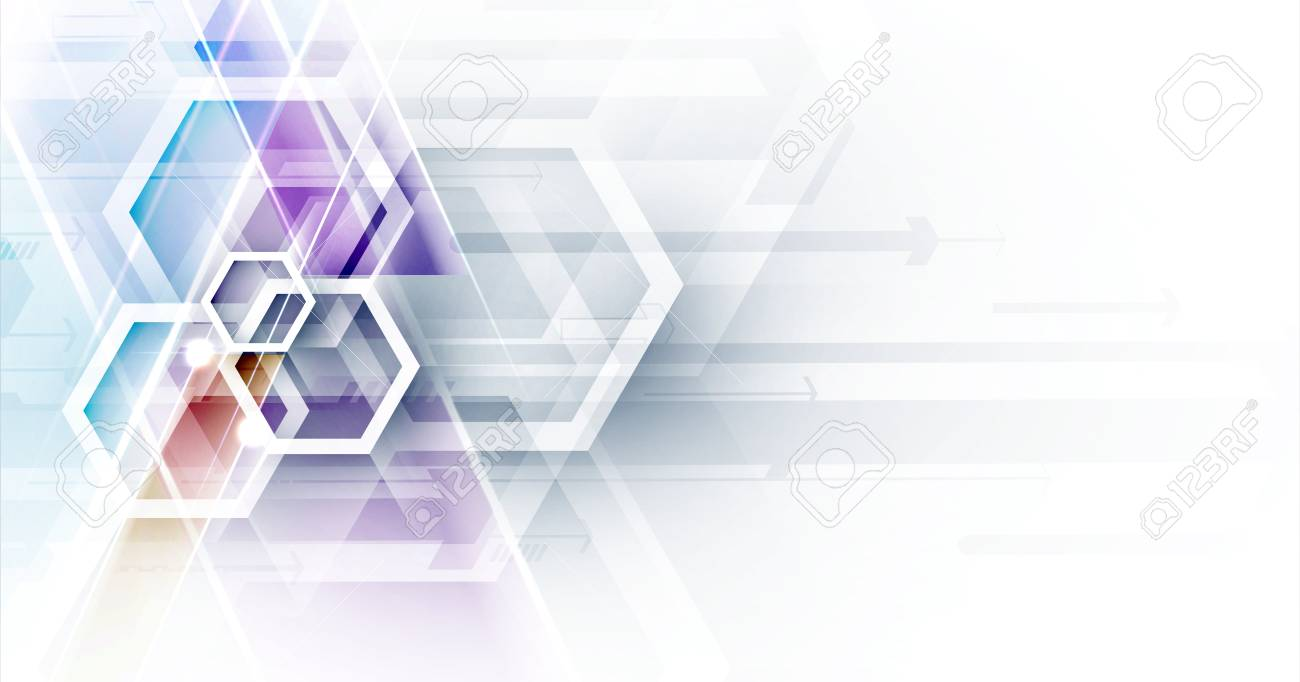 Abstract hexagon background. Technology poligonal design. Digital futuristic minimalism. Vector - 126419658