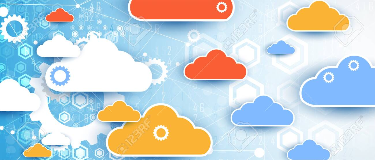 modern cloud technology. Integrated digital web concept background - 136456783