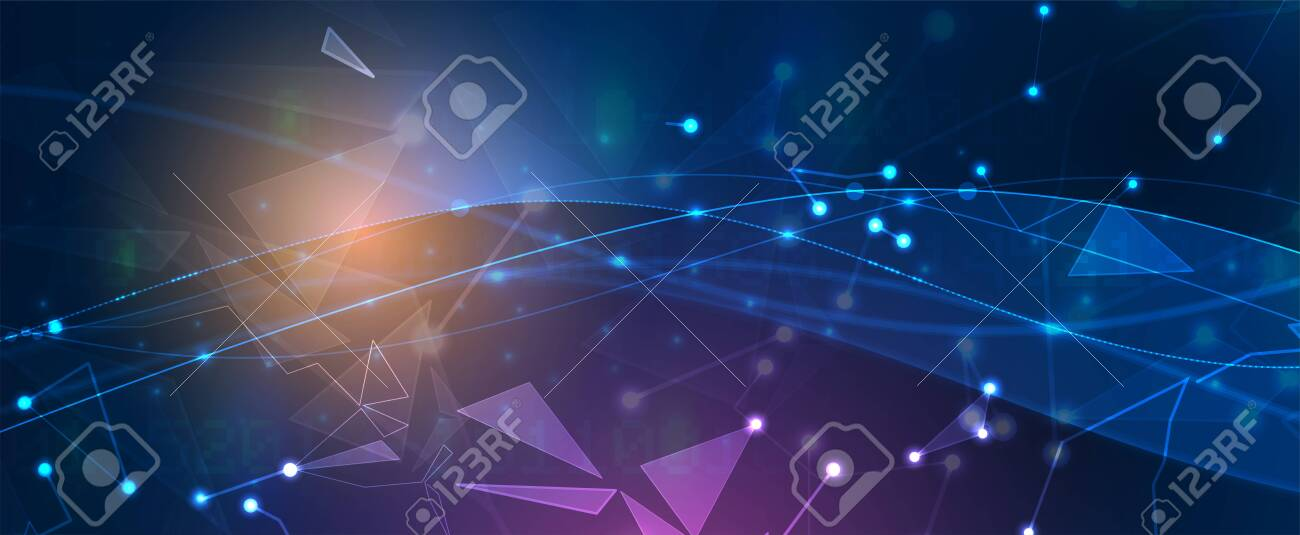 Technology innovation background, idea of global business solution - 143042447