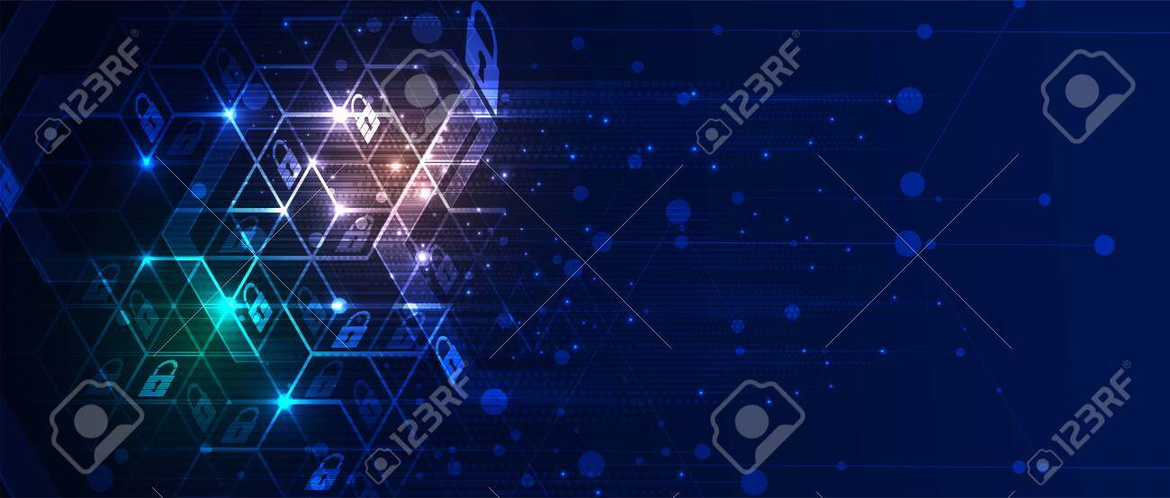 Cybersecurity and information or network protection. Future cyber technology web services for business and internet project - 151528432