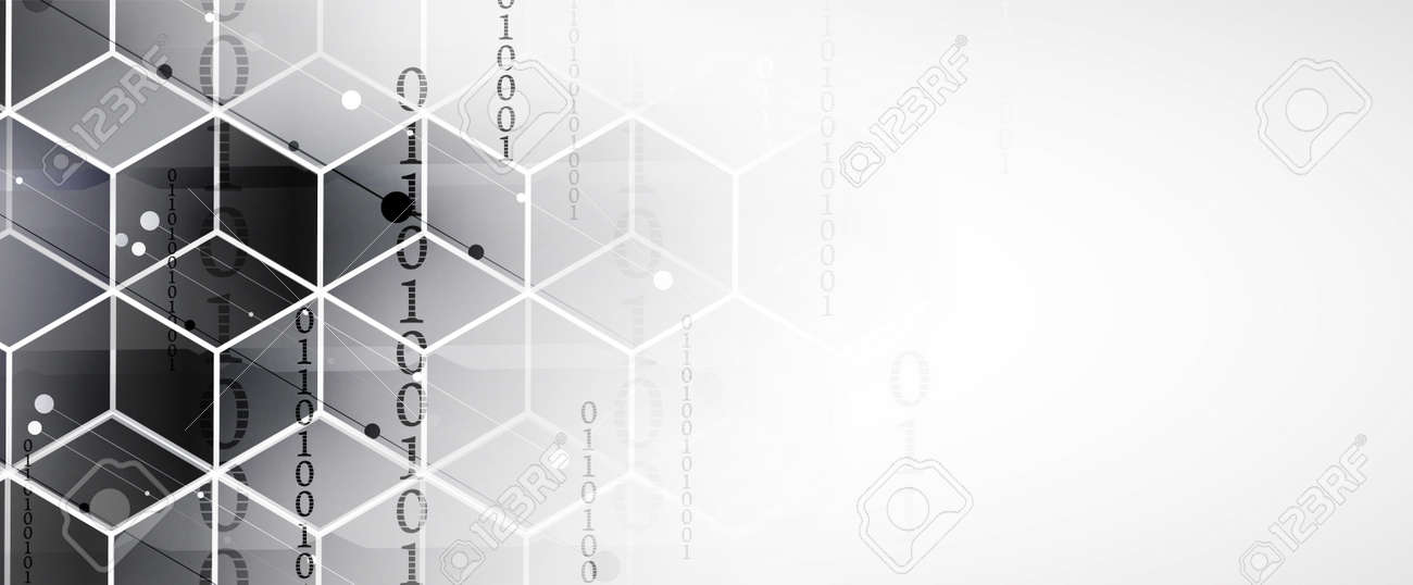Abstract hexagon background. Technology poligonal design. Digital futuristic minimalism. Vector - 171611993
