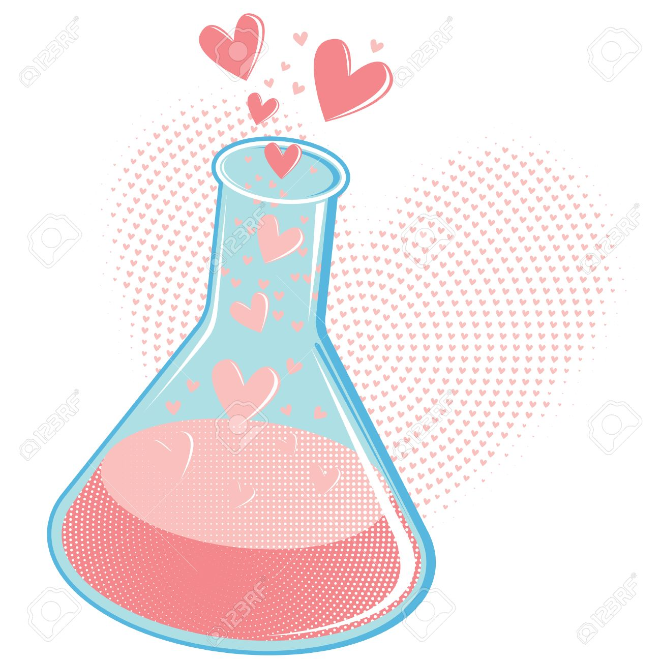 Chemistry of Love Concept or Love Potion Stock Vector - 8393289