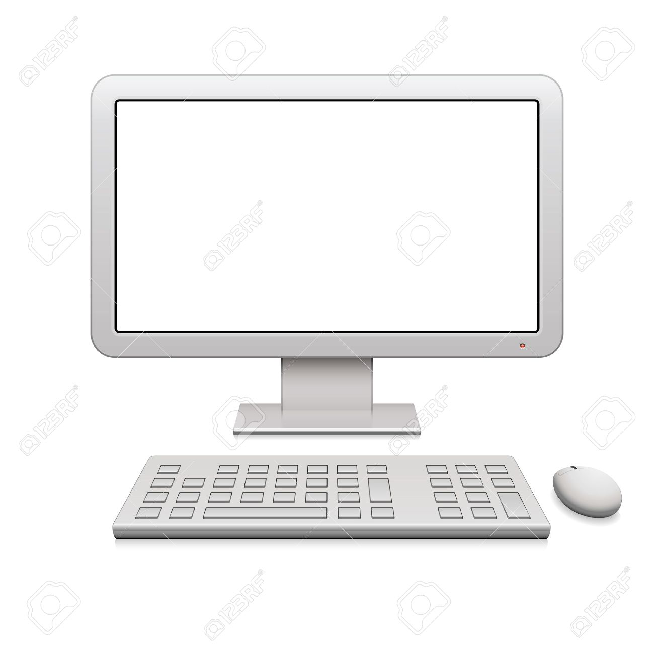 Modern desktop computer with a blank widescreen monitor, wireless keyboard and mouse Stock Vector - 11579768