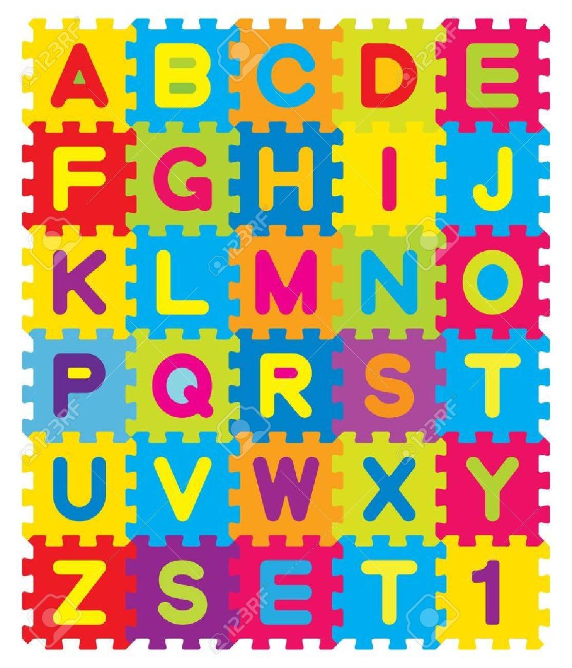 Alphabet preschool - Vector Vector Alphabet Puzzle