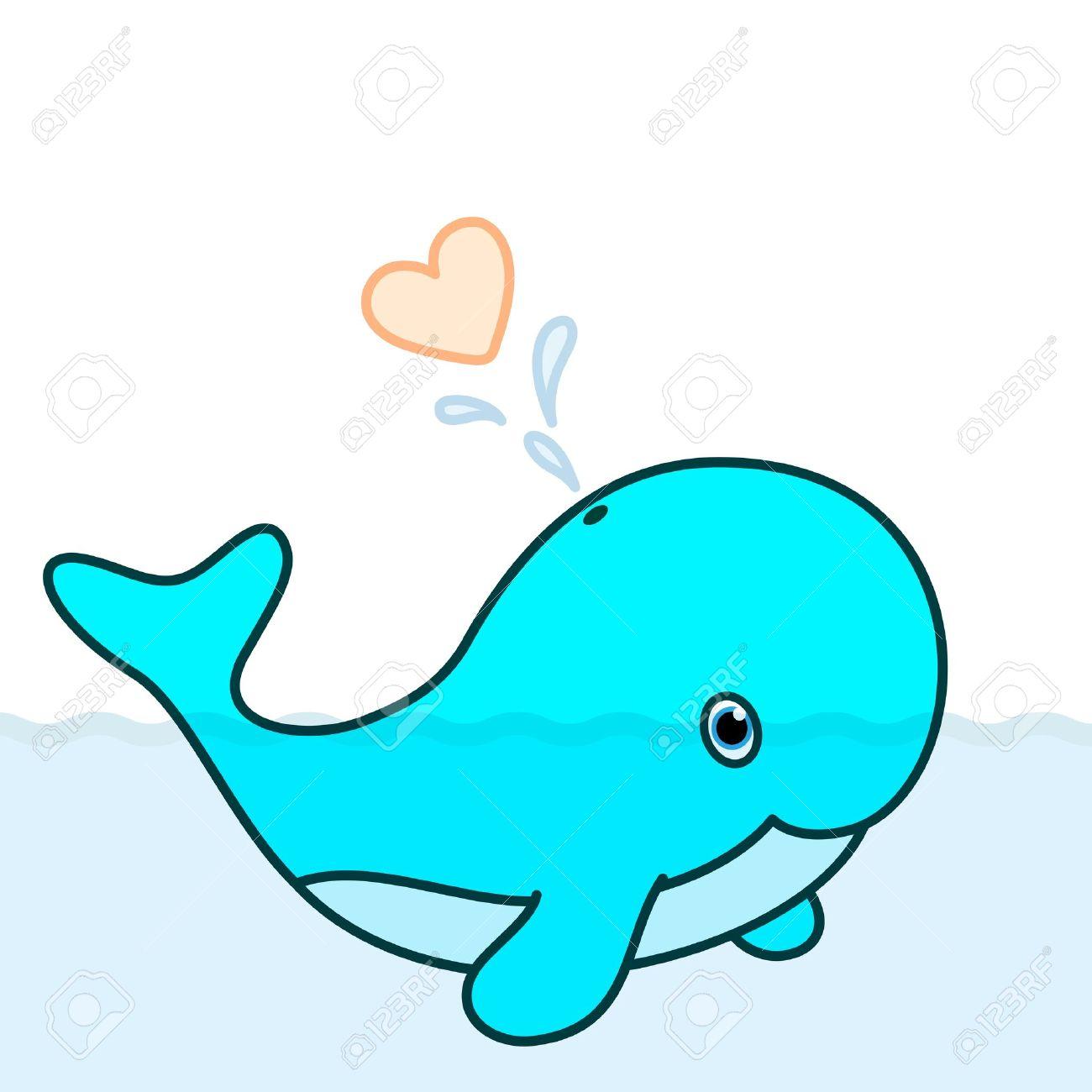 cute baby whale cartoon character blowing a heart water splash rh 123rf com baby beluga whale cartoon baby whale cartoon pictures