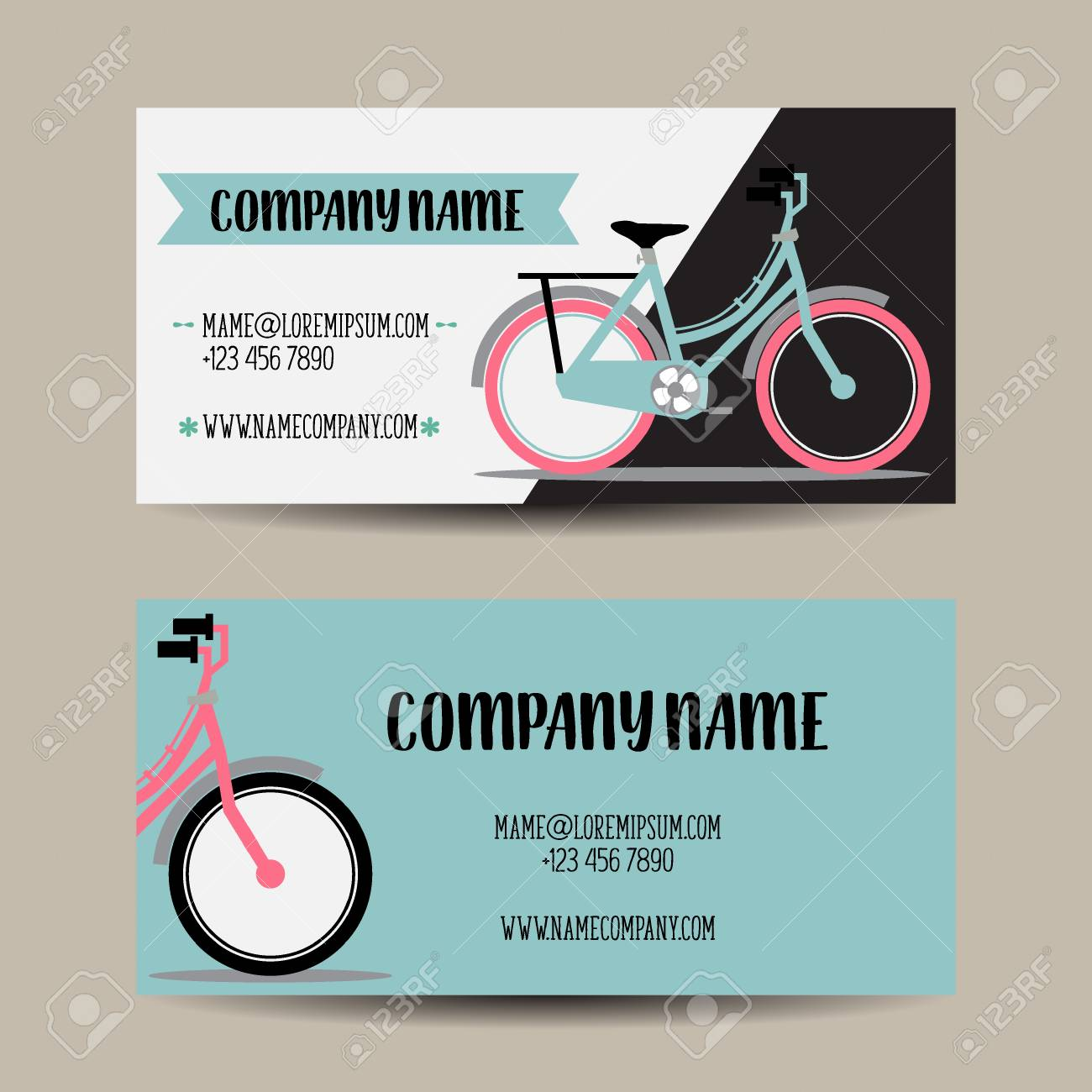 Business card with bicycle template royalty free cliparts vectors business card with bicycle template stock vector 56975134 colourmoves