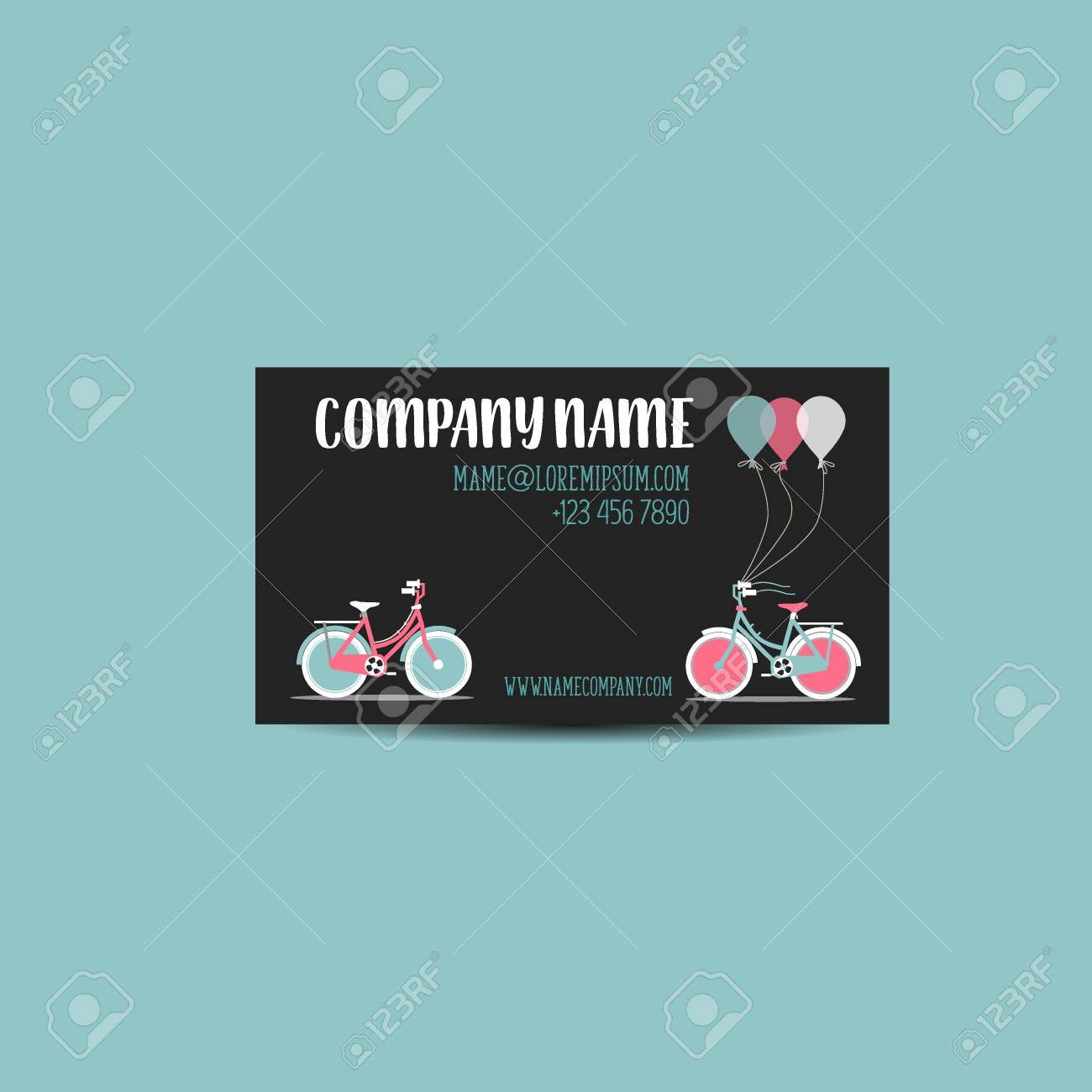 Business Card With Bicycle Template Royalty Free Cliparts, Vectors ...