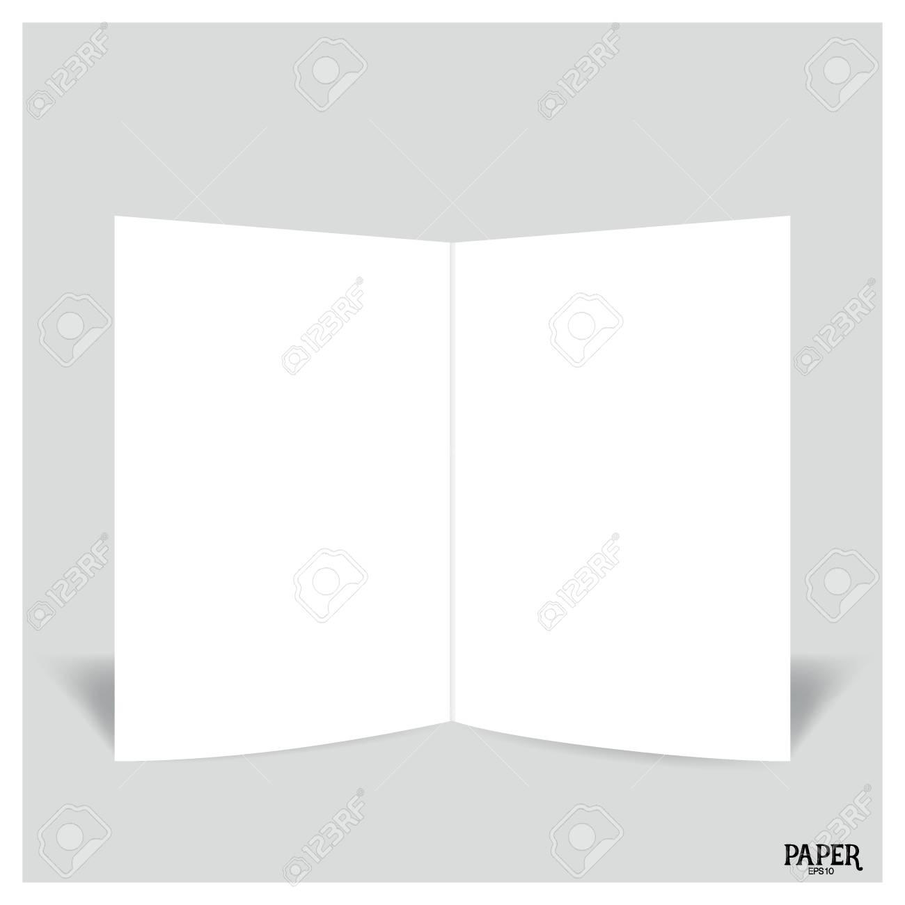 blank two leaf brochures blank bifold paper brochure mockup