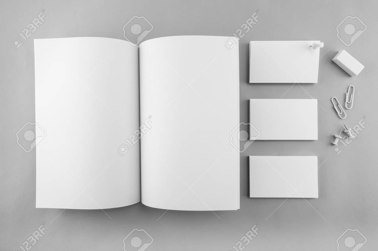 collection of blank catalog magazine book template and business