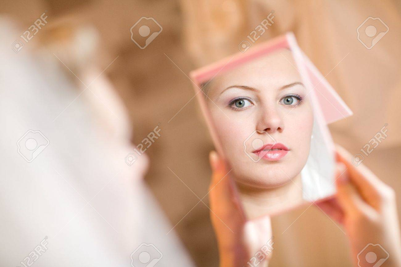 face of the girl in the mirror Stock Photo - 4207496