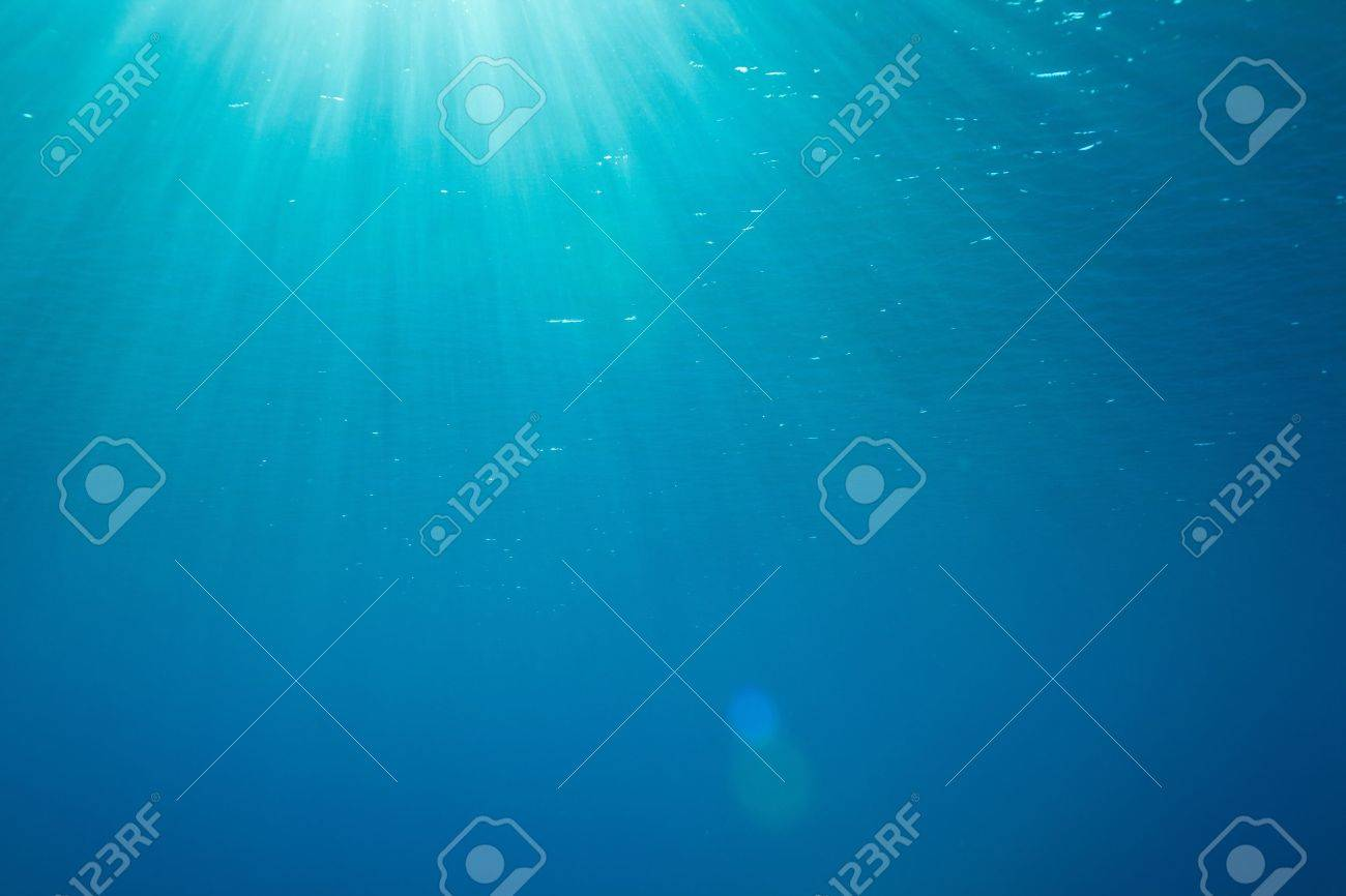 a background with sunbeams underwater Stock Photo - 12471994