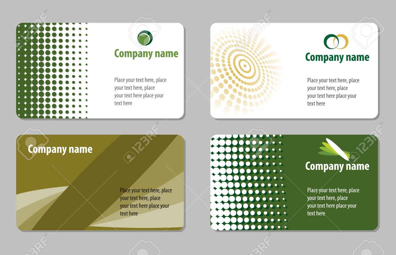 Green Business Cards Templates Collections Stock Vector