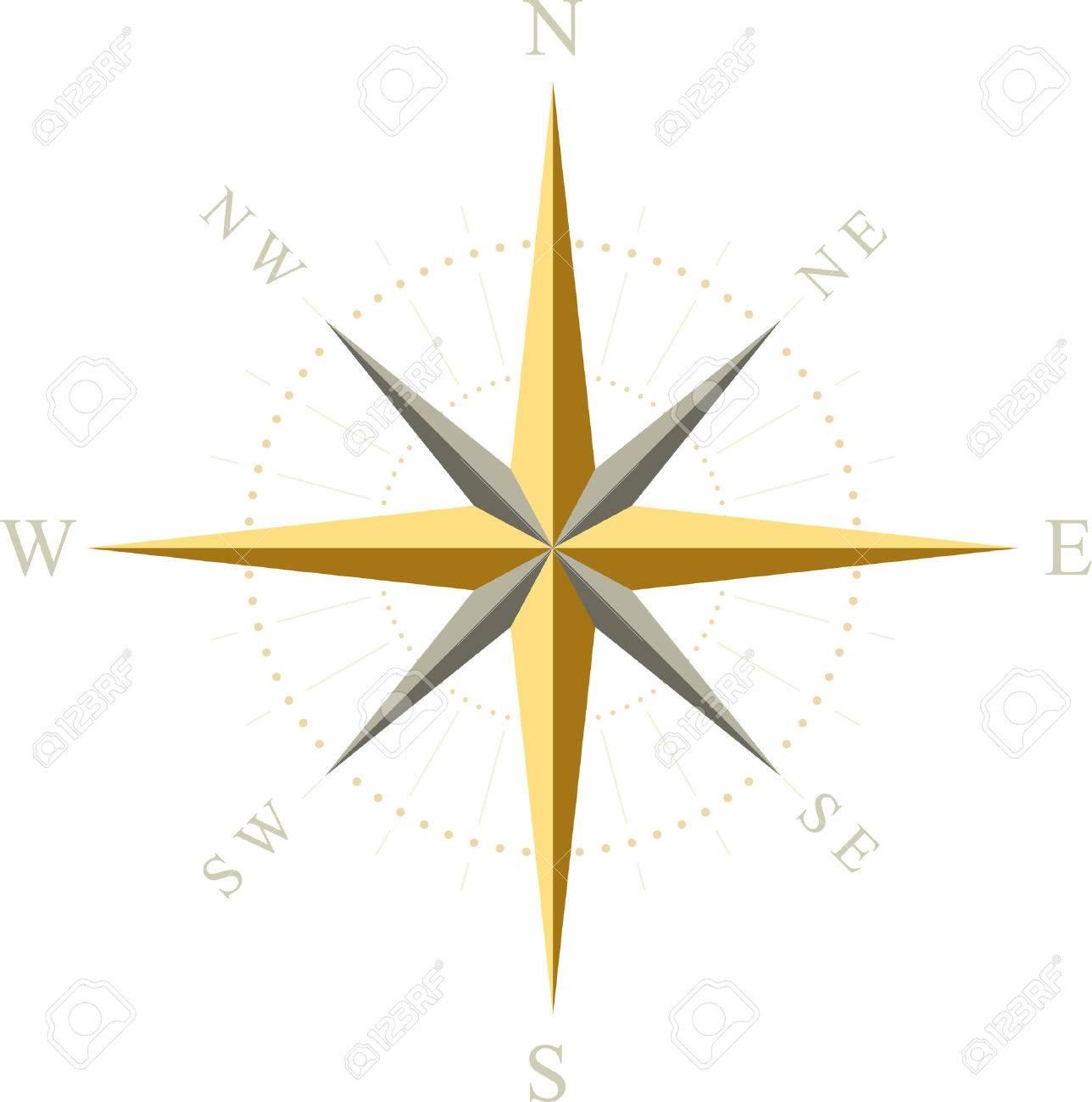 Compass. Vector illustration. Stock Vector - 5024002