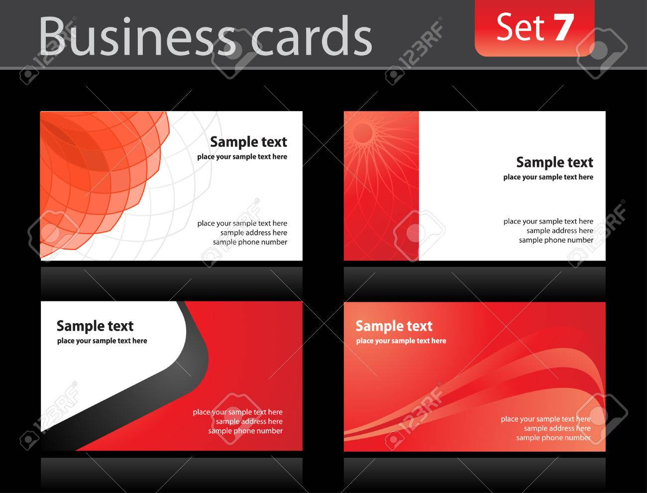 Business cards templates Stock Vector - 6521806