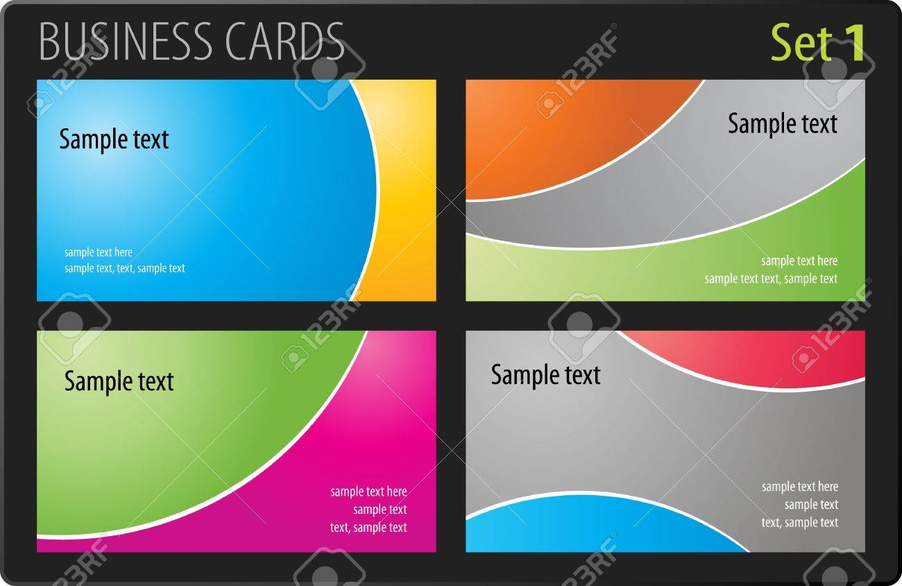 Business cards template Stock Vector - 7139584