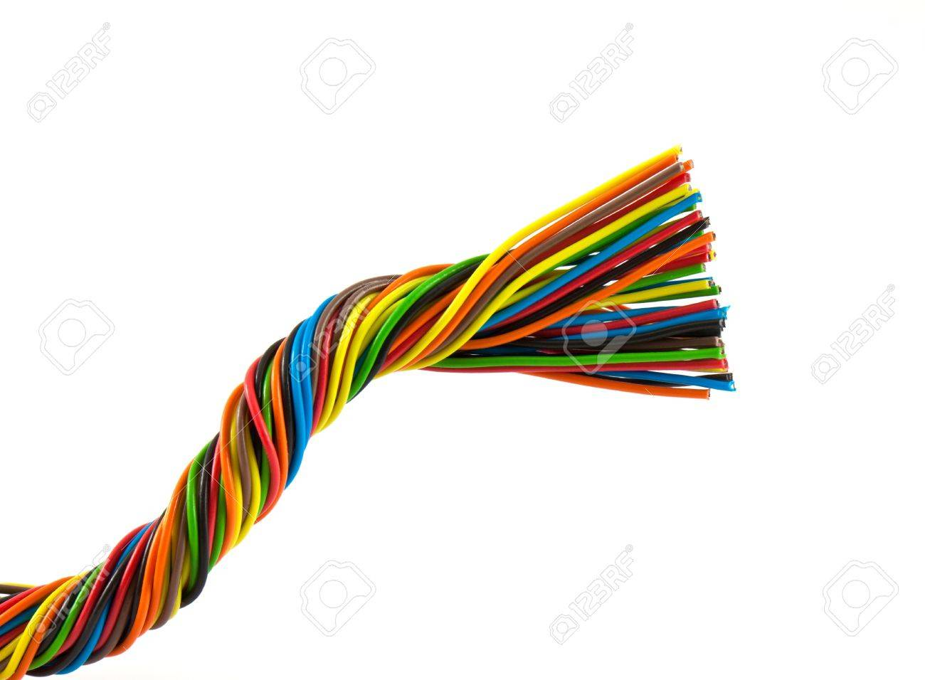Color Wires Isolated On White Background Stock Photo, Picture And ...