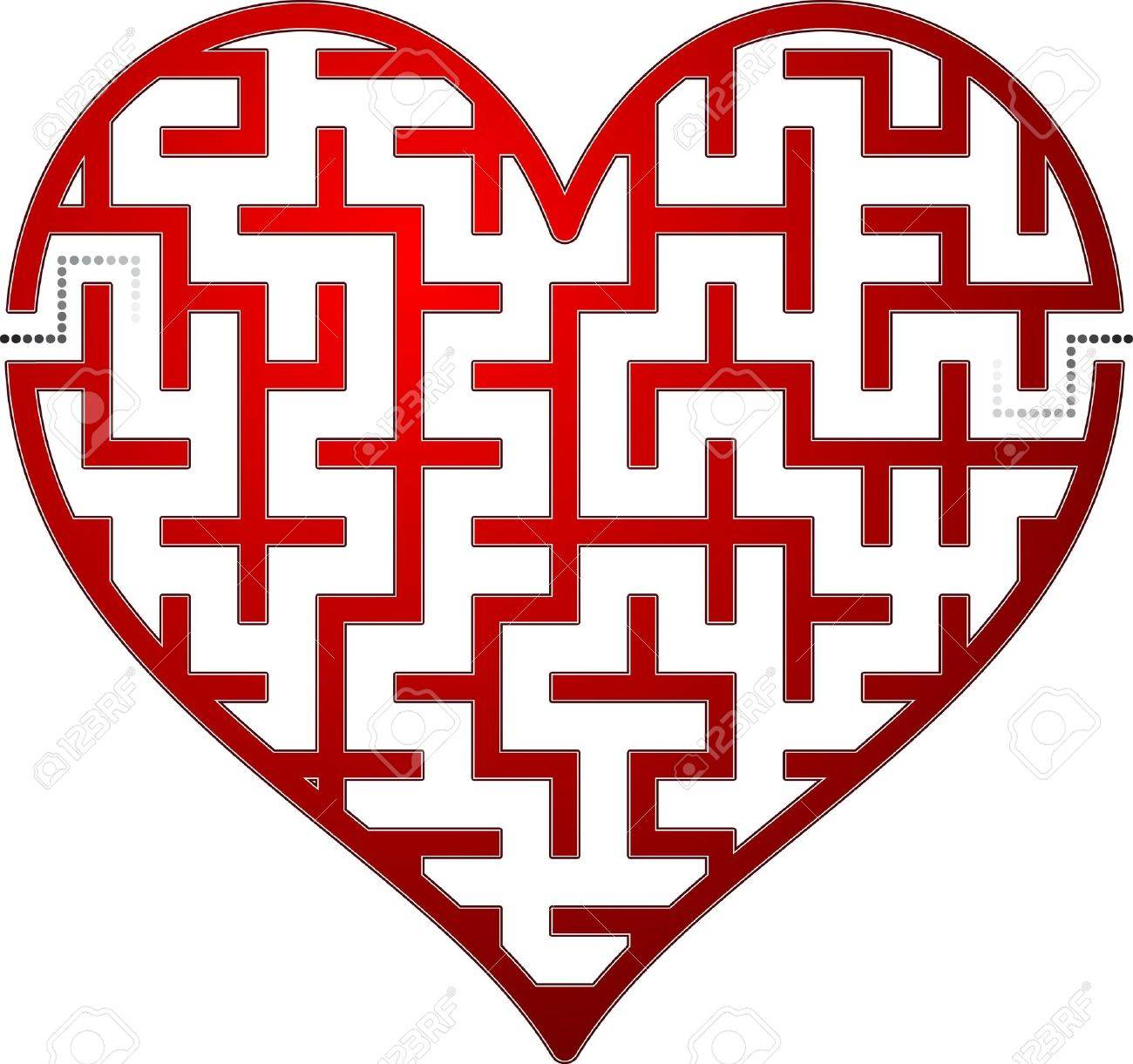 Uncategorized Valentine Mazes heart maze vector illustration royalty free cliparts vectors stock 11884132