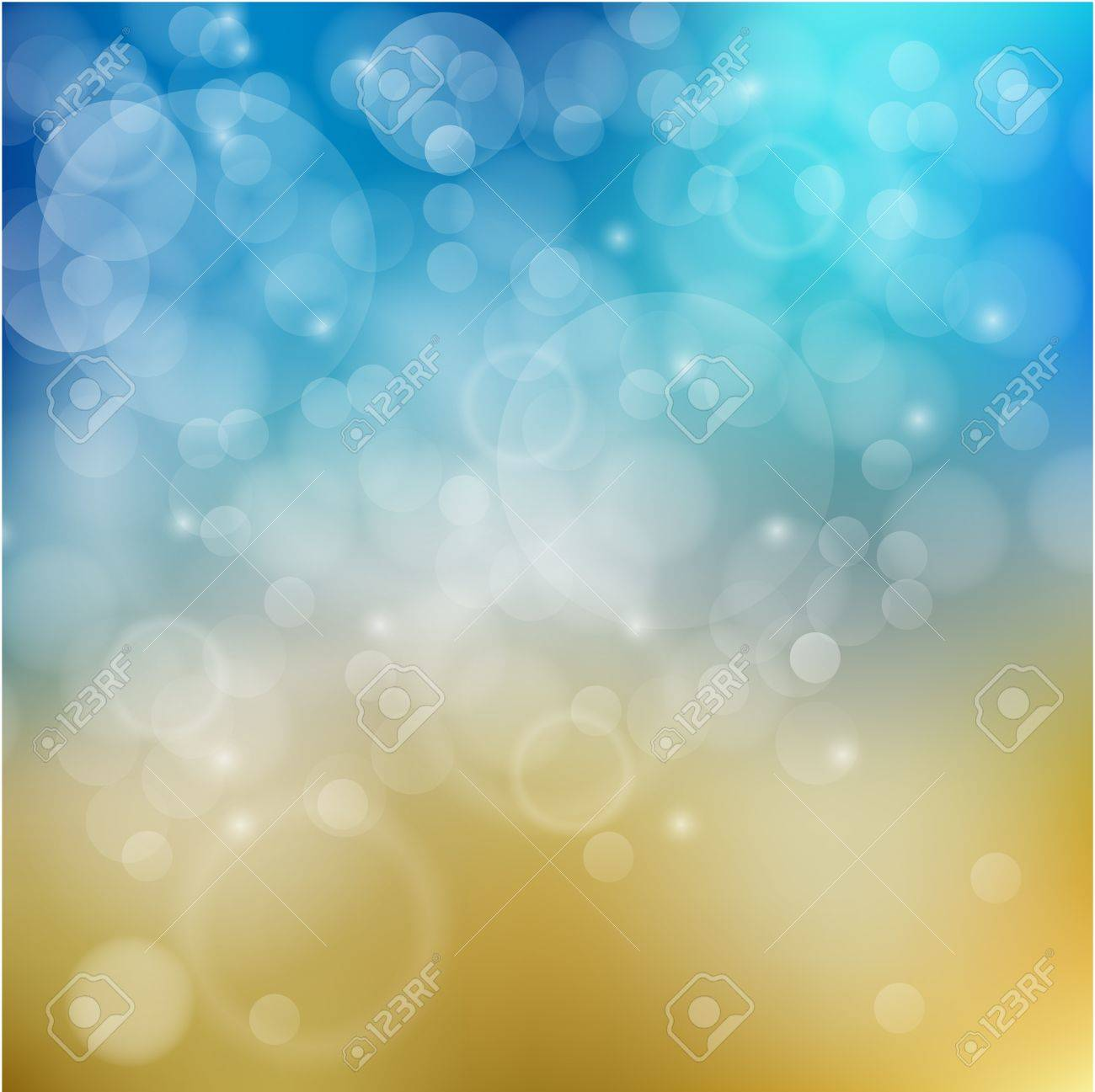 Light blue with yellow background Stock Vector - 17676334