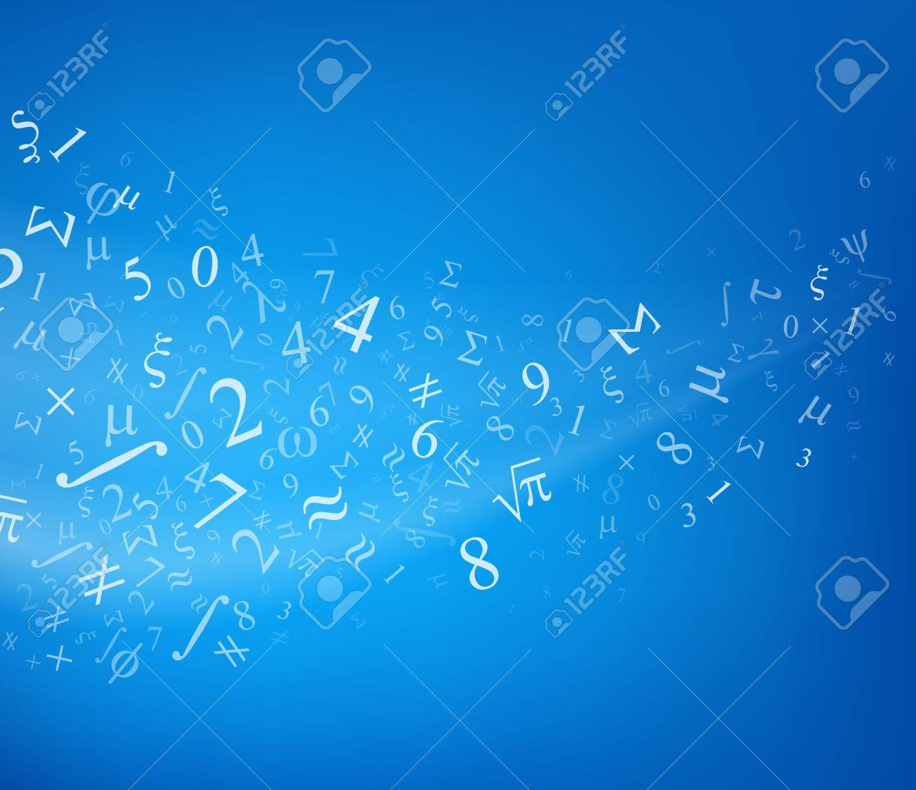 Blue background with numbers, vector illustration. Stock Vector - 29466138