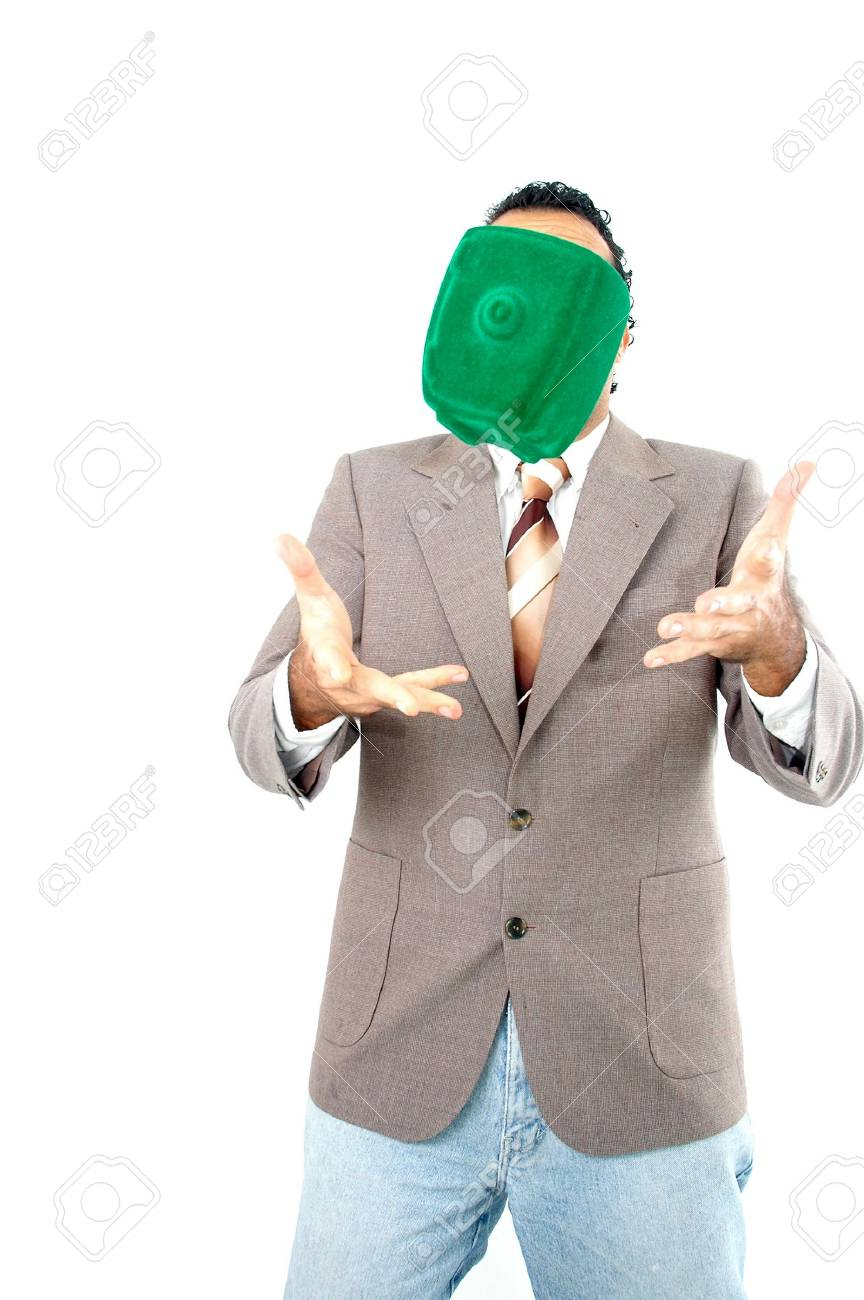 Man try to holding his economy falling Stock Photo - 981656