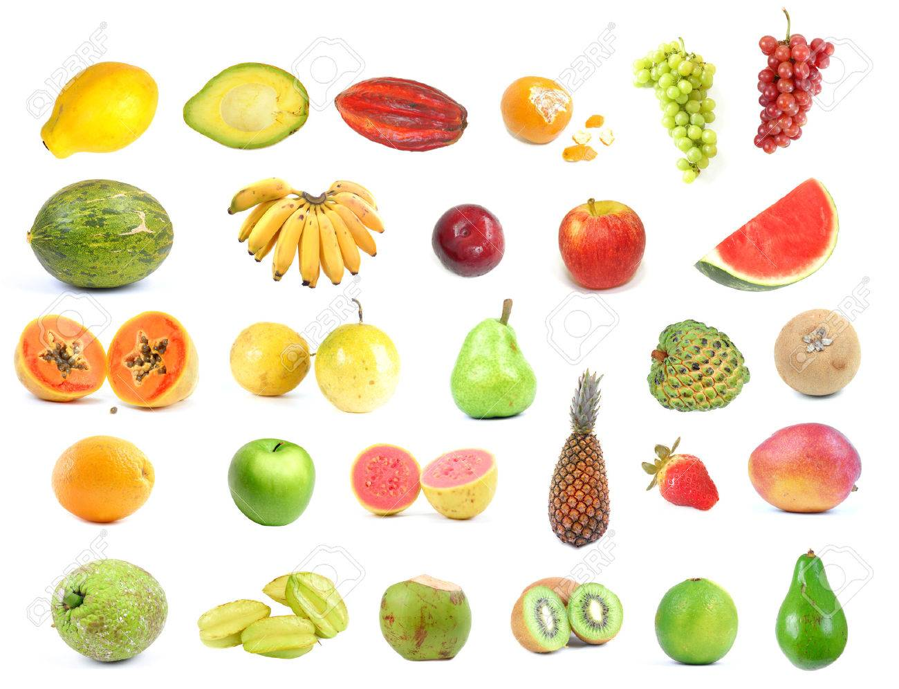 Collection With Several Types Of Fruits . Stock Photo, Picture And ...