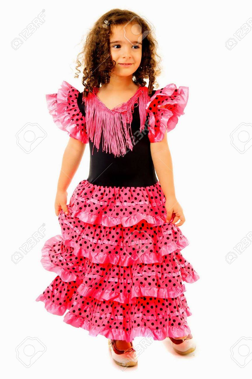 2aa6d78f3 Cute Girl With Typical Spain Dancer Clothes Stock Photo