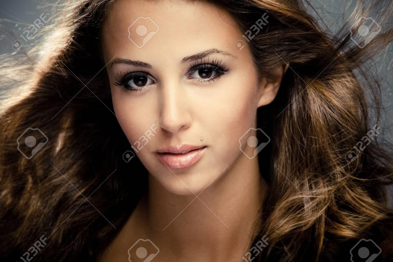 young woman beauty portrait, close, studio shot Stock Photo - 7445072