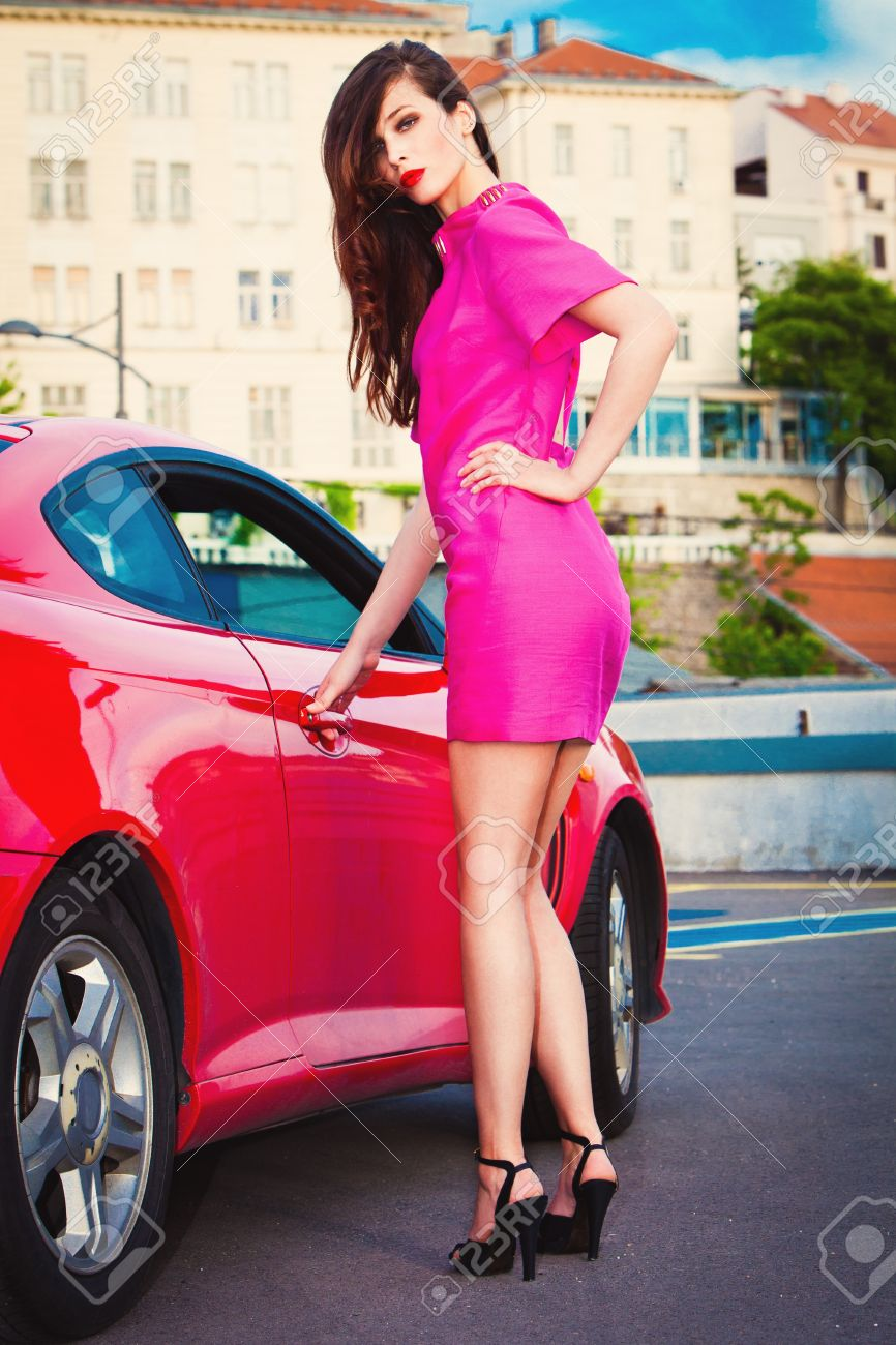 Pink Dress And Heels
