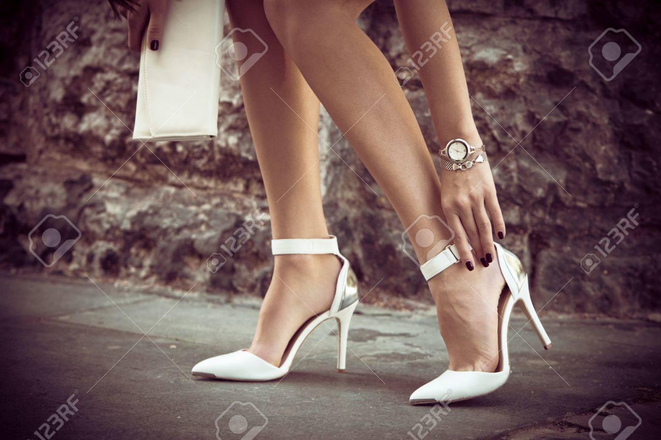 scarpe bianche tacco alto