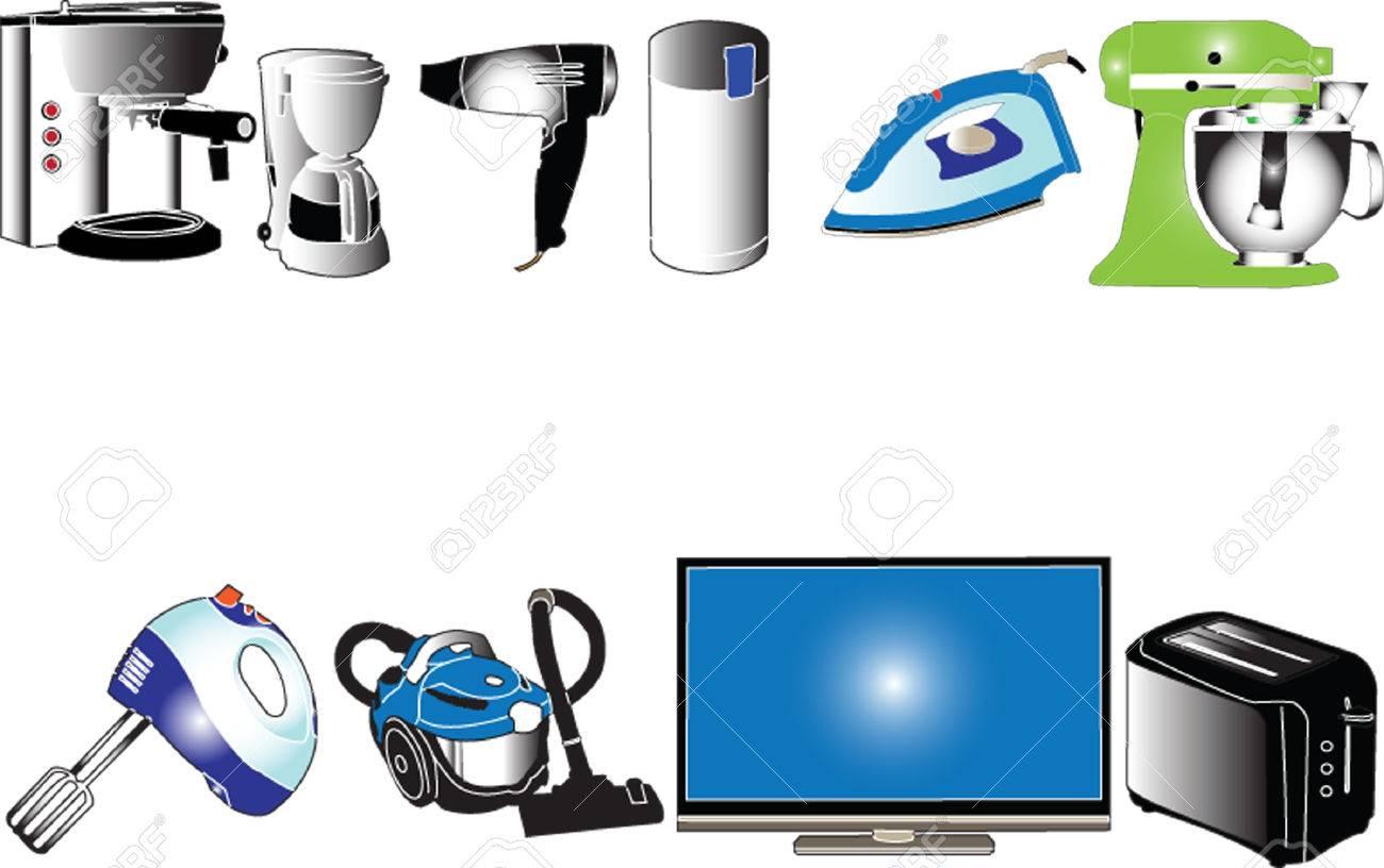 home appliances collection - vector Stock Vector - 5097923