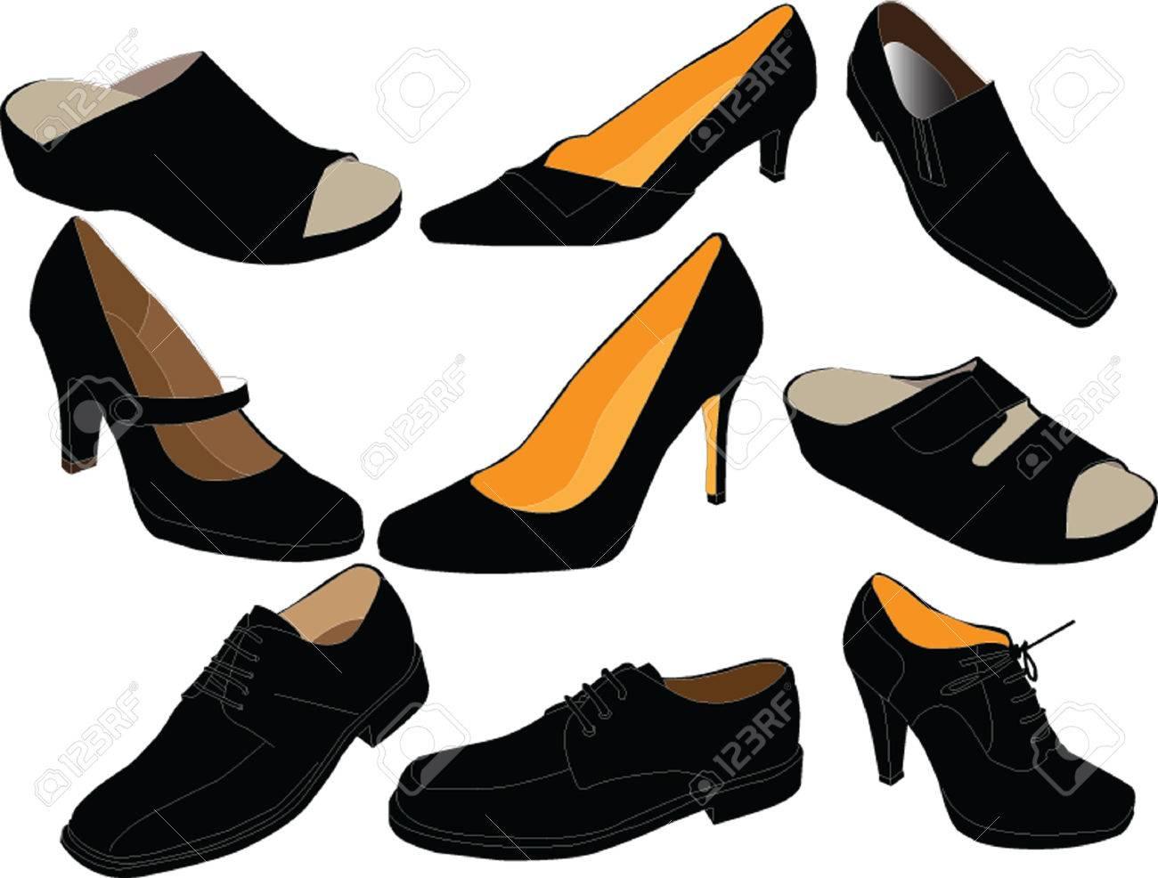 footwear collection - vector Stock Vector - 5248870