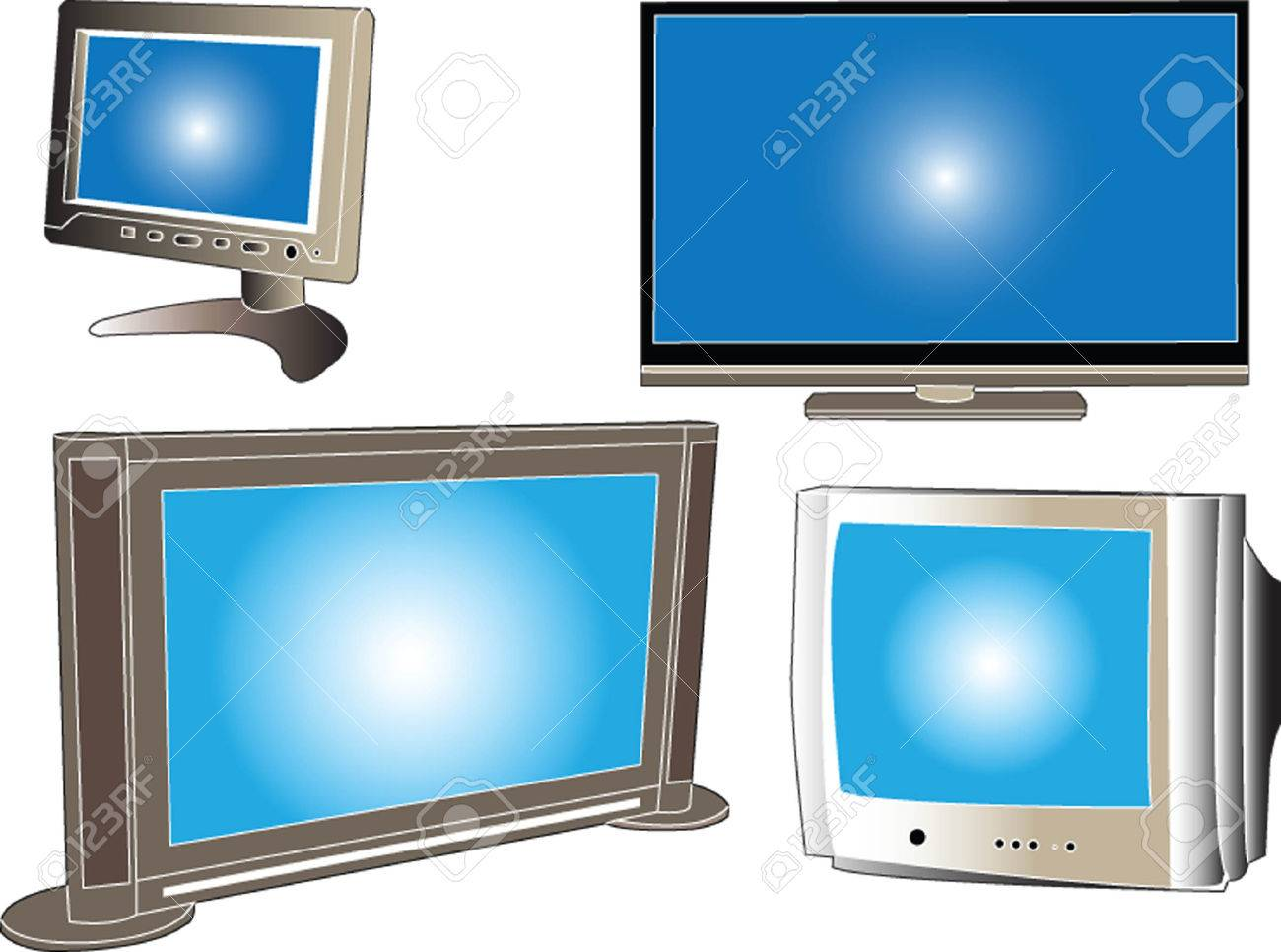 television collection Stock Vector - 5275290