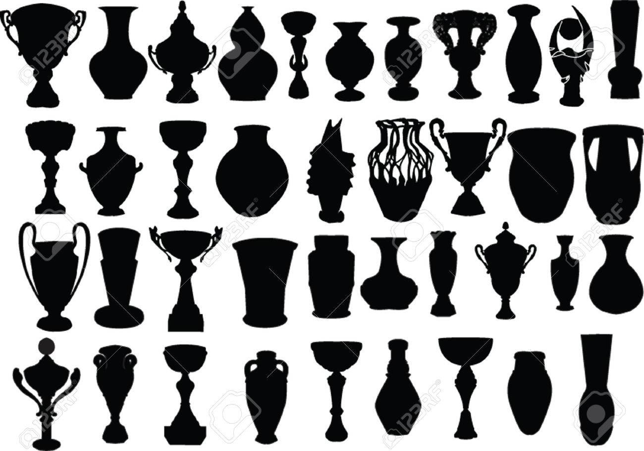 vases and cups collection Stock Vector - 5286415