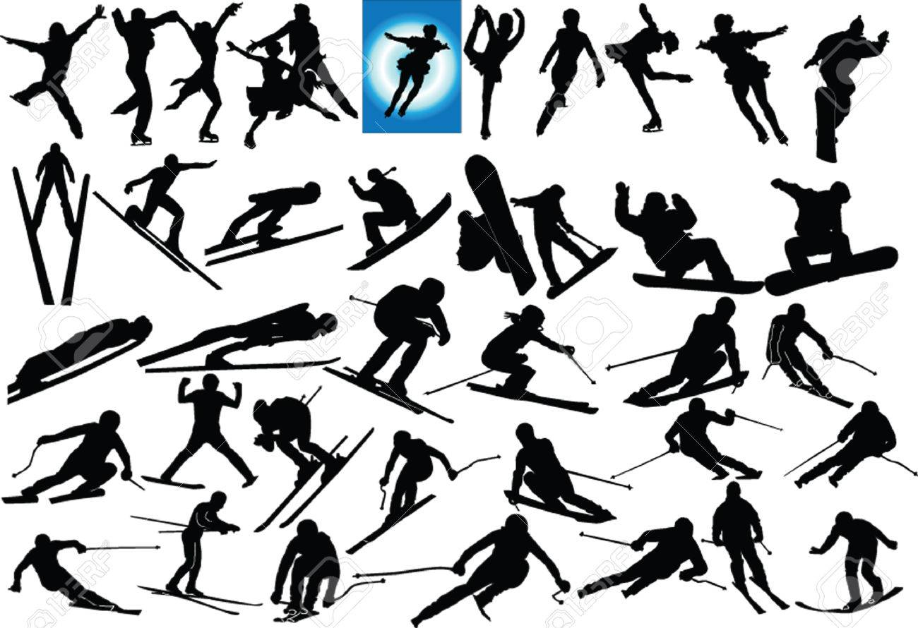 winter sports illustration collection Stock Vector - 5727872