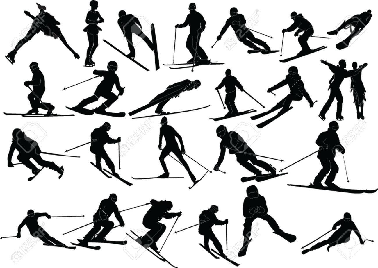 winter sports silhouette Stock Vector - 6139104