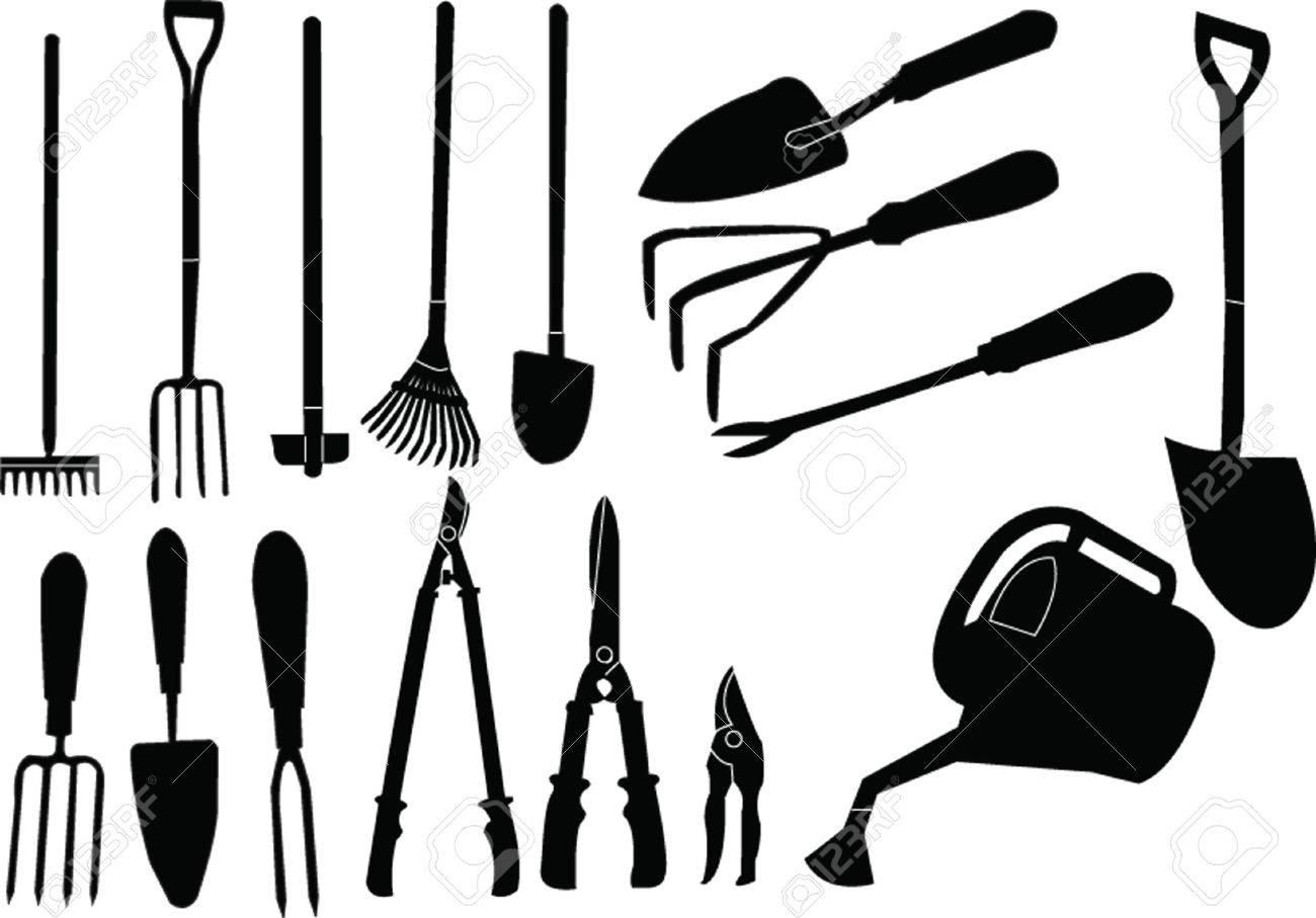 Gardener Tools Collection Royalty Free Cliparts, Vectors, And ...