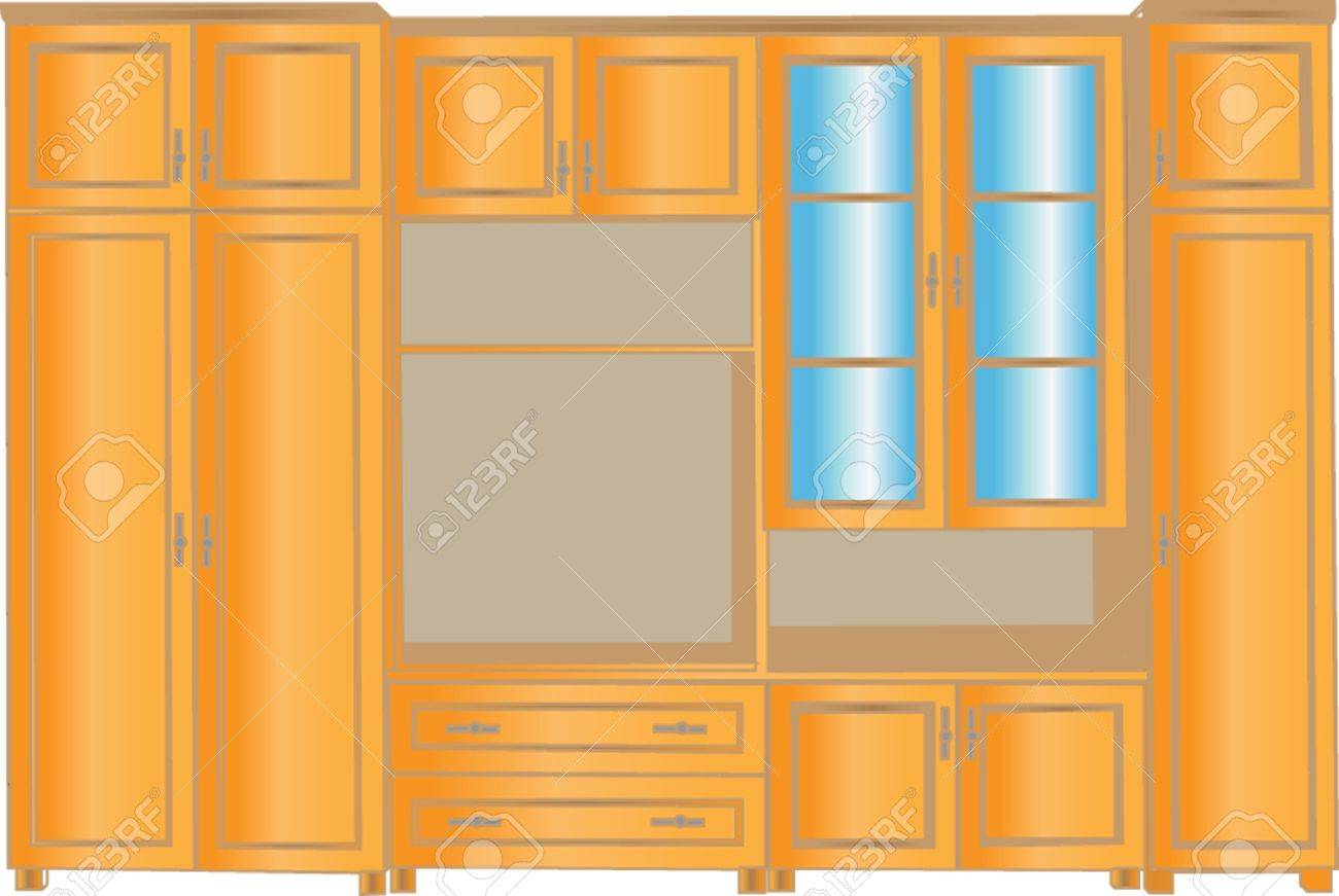 Living Room Cabinets For Cabinet For Living Room Vector Royalty Free Cliparts Vectors