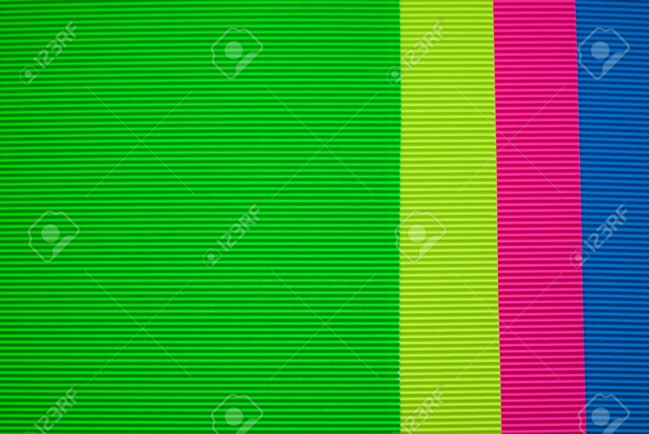 Colorful Sheets Of Corrugated Cardboard, A Set Of Colored Paper ...