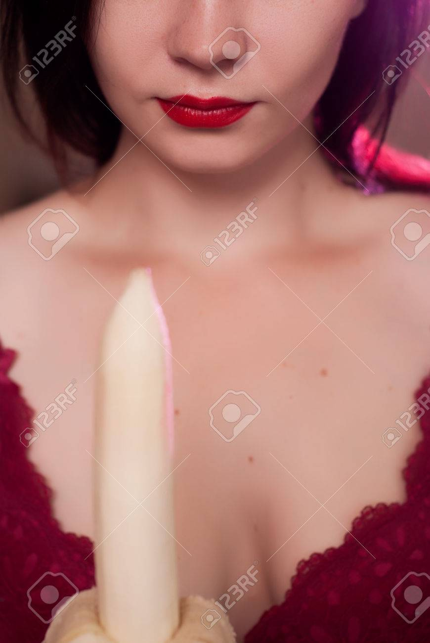 Oral sex with lipstick