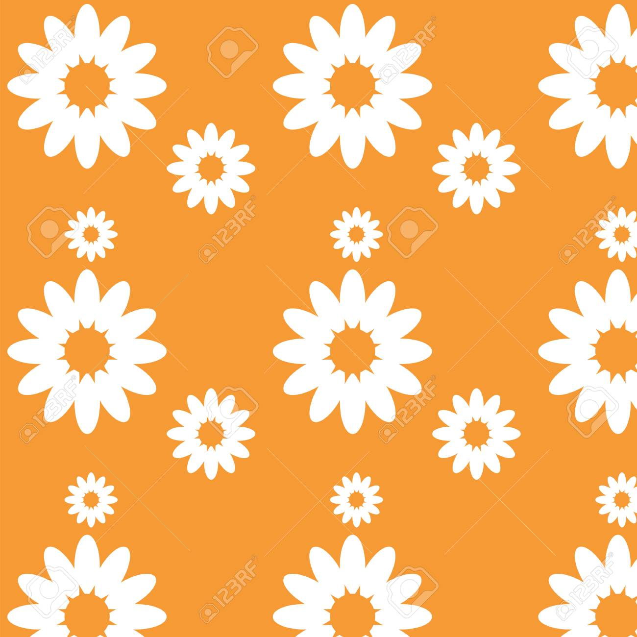 Color Pattern Daisy Flower Chamomile Royalty Free Cliparts Vectors