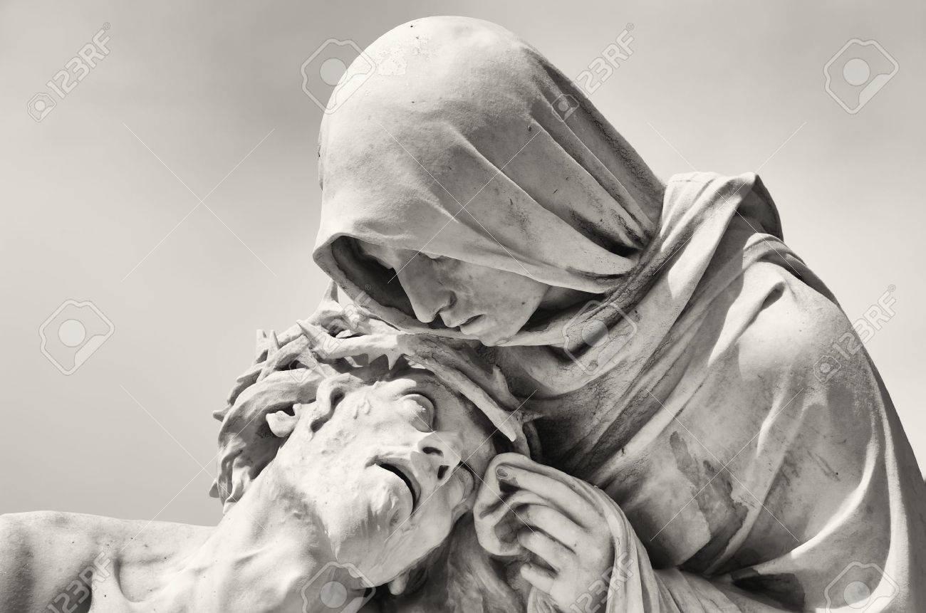 passion of christ in front of the basilica notre dame de la garde