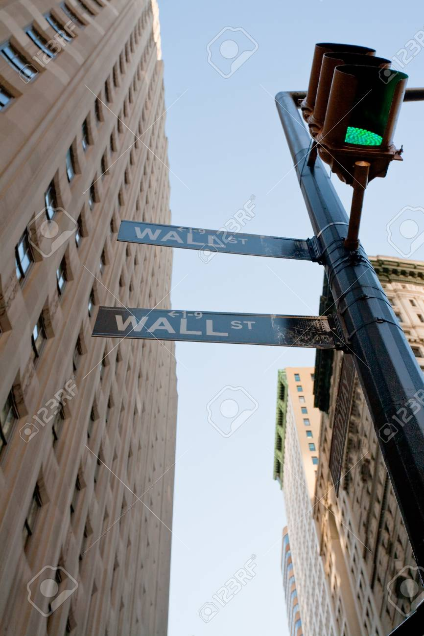 New York, USA - February 5: crossing of Wall St and Broadway in NY in February 5, 2010 in New York USA Stock Photo - 9433854