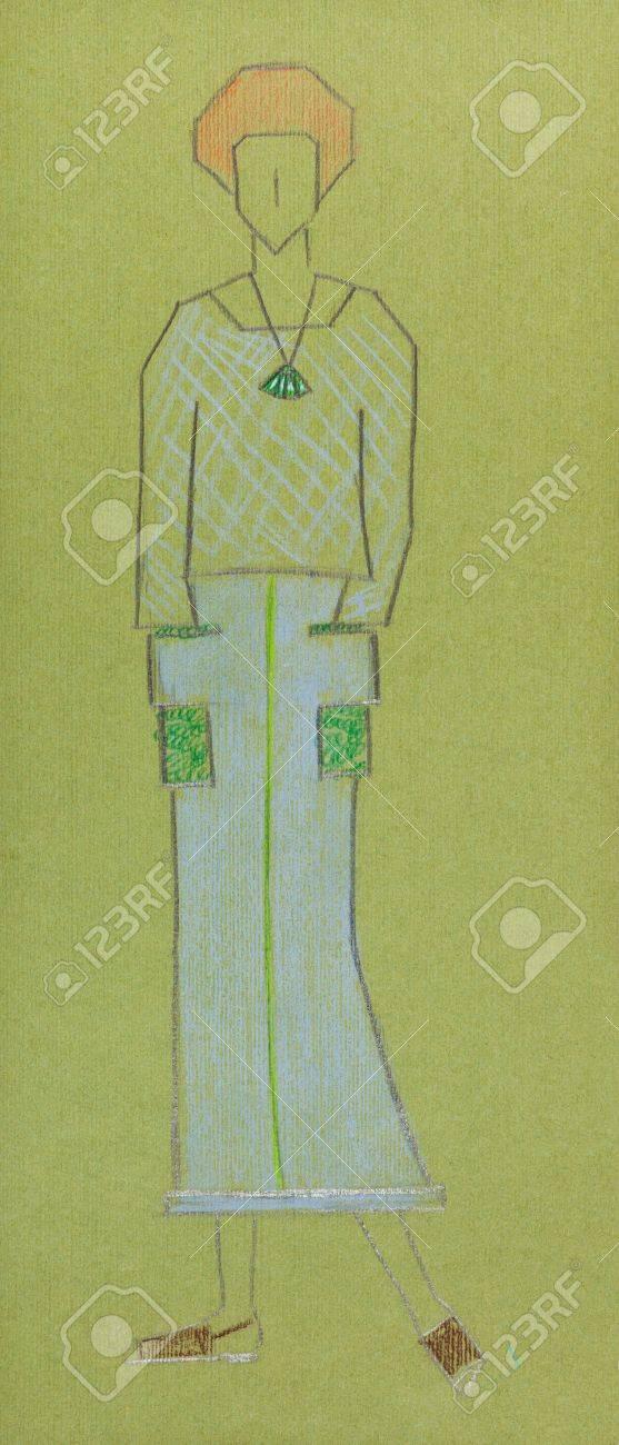 Moda De Boceto Artículos Jersey Punto Mujer Y Bosquejo Falda Modelo La  qEZ1dxZPn ... cb0007e738826