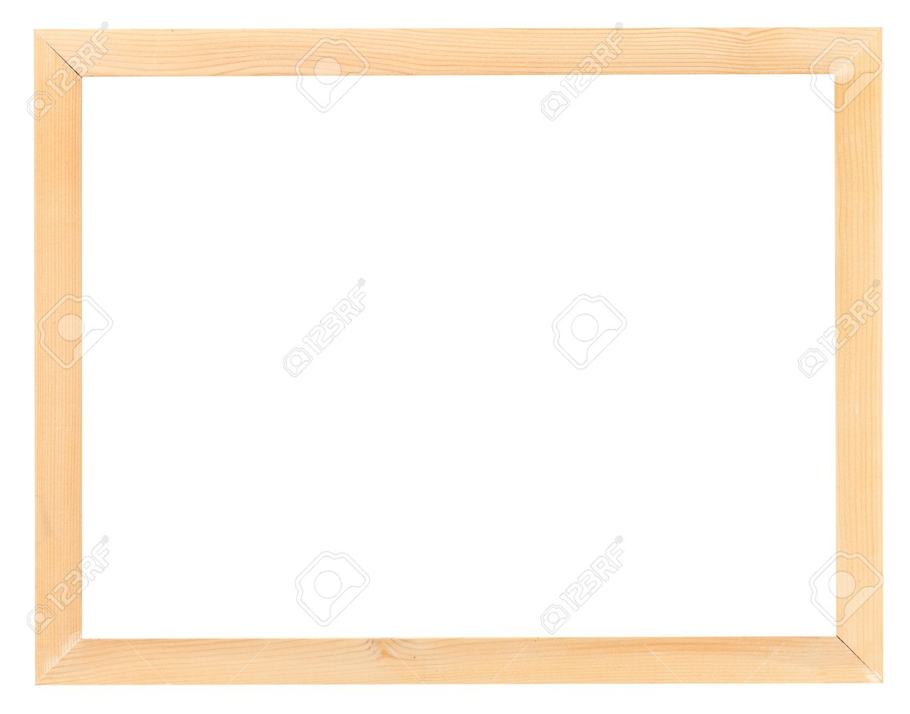 modern wood picture frames. Modern Narrow Light Wood Picture Frame With Cutout Canvas Isolated On White Background Stock Photo - Frames E