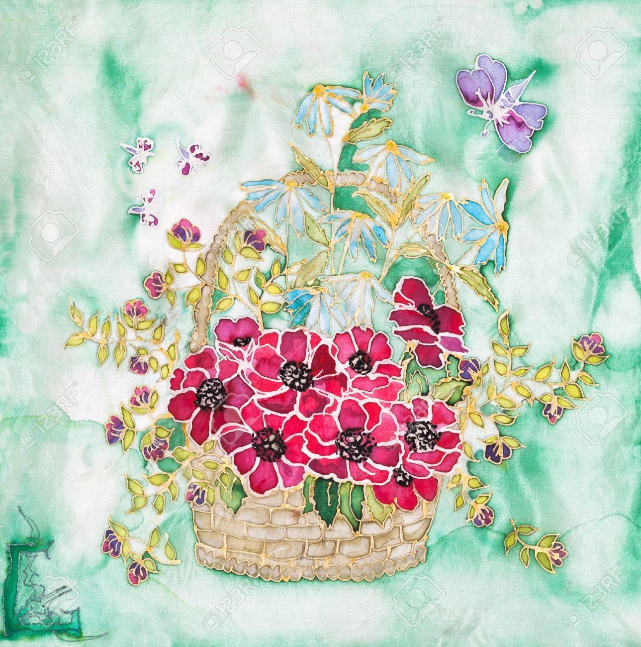 Silk Painting Designs Flowers Best Painting 2018