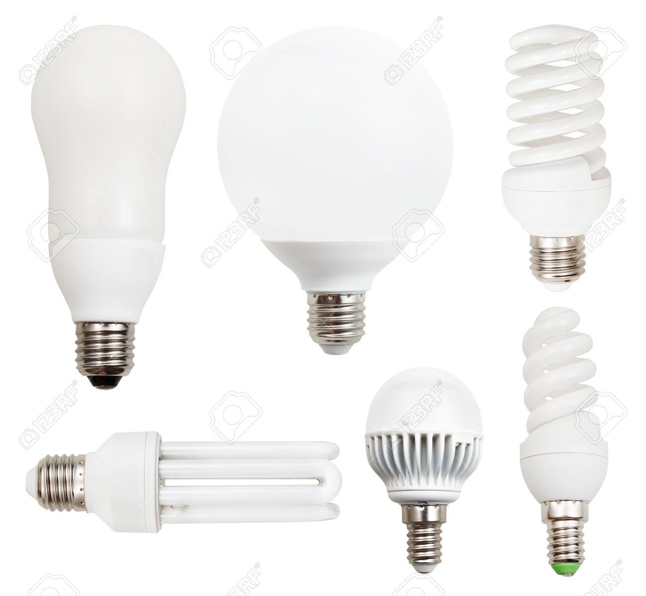 Sur Fond Fluorescentes Lampes Isolé À Led Blanc Compactes Économie Ensemble De D'énergieAmpoules 76ybYfg