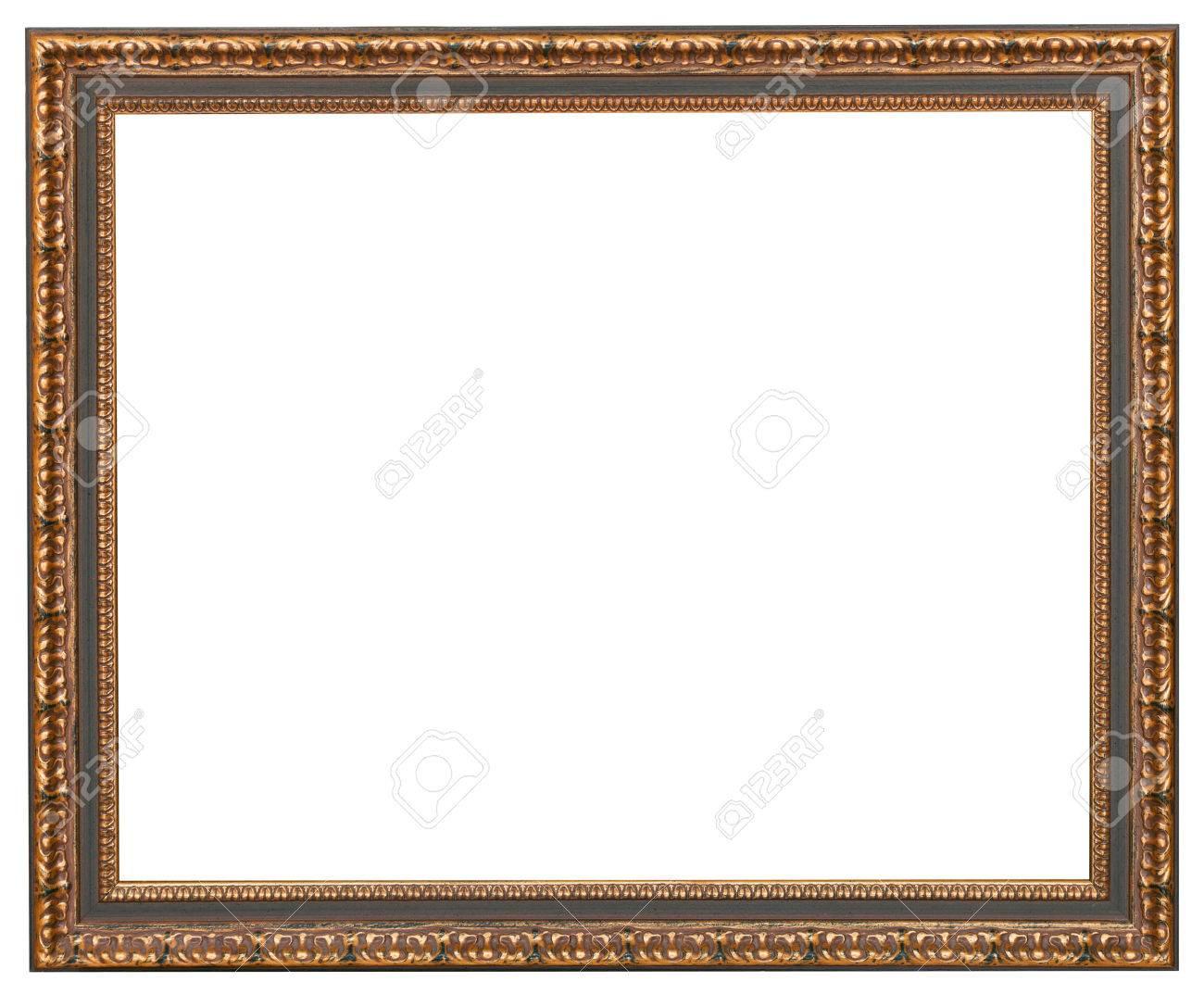 Klassischen Stil Aus Holz Bilderrahmen Mit Leinwand Ausgeschnitten ...