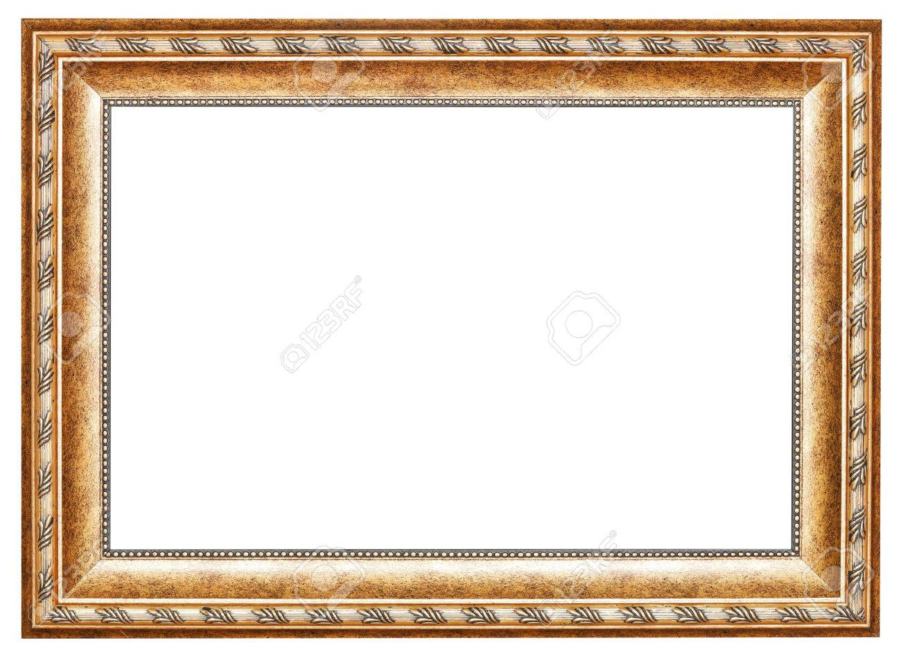Ancient Gold Classic Wide Wooden Picture Frame With Cut Out Canvas ...