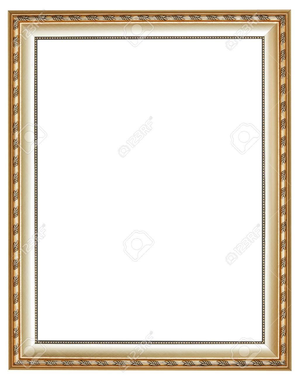 Witte Houten Fotolijst.Verticale Oude Zilveren Klassieke Houten Fotolijst Met Uitgesneden