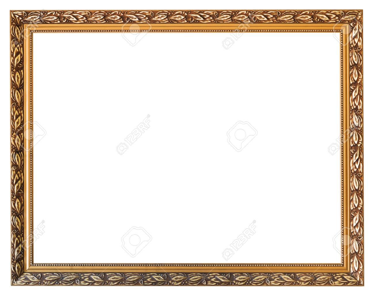 Geschnitzten Goldenen Bilderrahmen Aus Holz Mit Ausgeschnitten ...